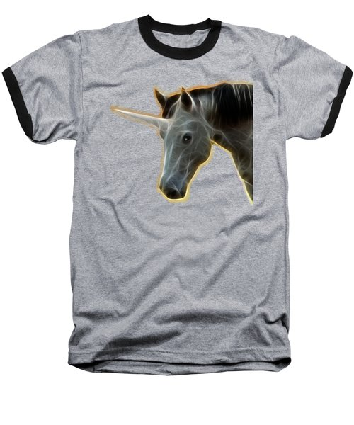 Baseball T-Shirt featuring the photograph Glowing Unicorn by Shane Bechler