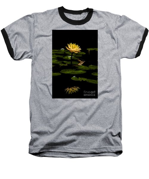 Glowing Waterlily Baseball T-Shirt