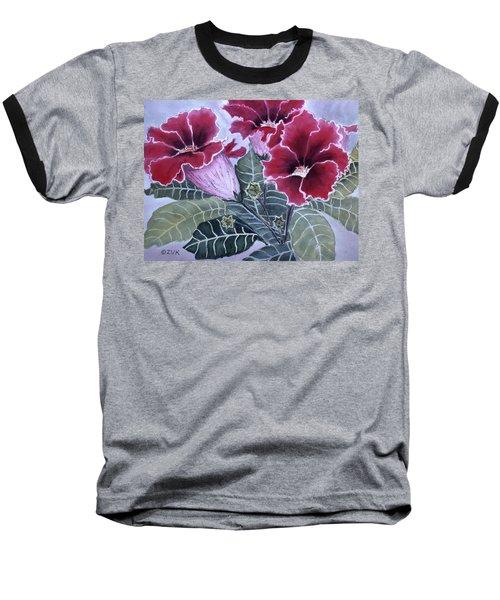 Gloxinias Baseball T-Shirt