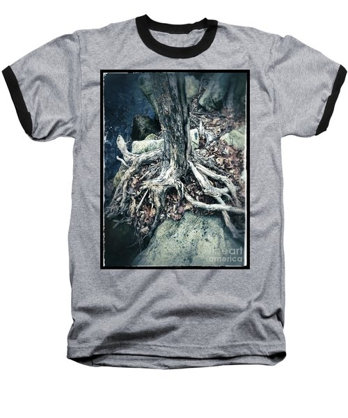 Gnarled Rooted Beauty Baseball T-Shirt by Jason Nicholas