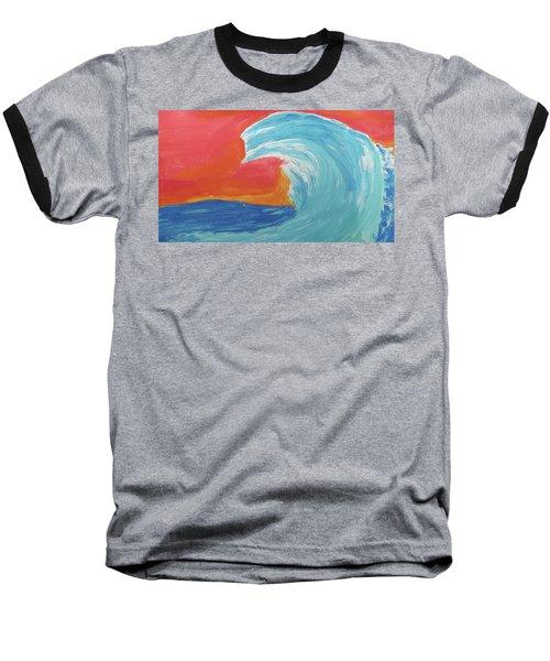 Gnarly Wave  Baseball T-Shirt by Don Koester