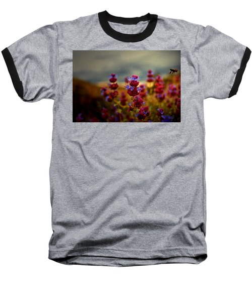 Go Bee Baseball T-Shirt by Mark Ross