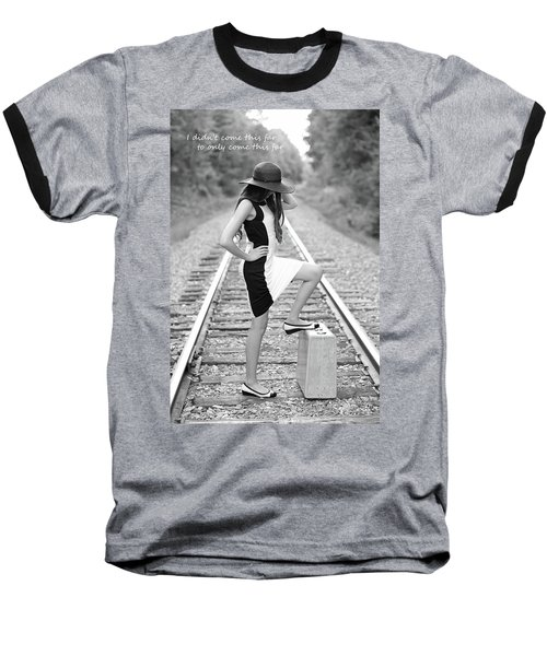 Baseball T-Shirt featuring the photograph Go Far by Barbara West