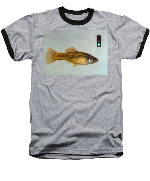 Go Fish Baseball T-Shirt by James W Johnson