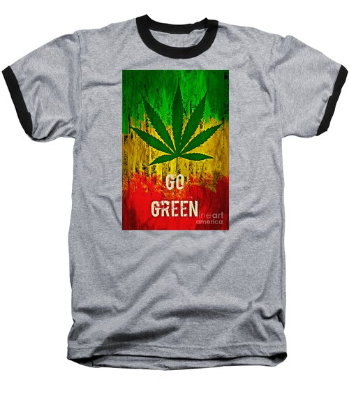 Go Green Baseball T-Shirt