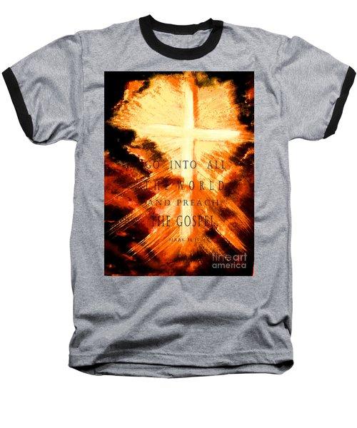 Go Into All The World Baseball T-Shirt by Hazel Holland