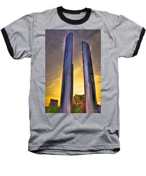 Go Tech Georgia Tech Sunset Art Baseball T-Shirt by Reid Callaway