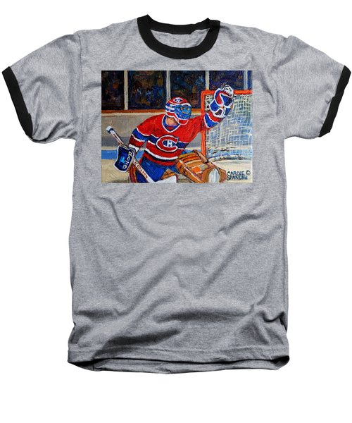 Goalie Makes The Save Stanley Cup Playoffs Baseball T-Shirt