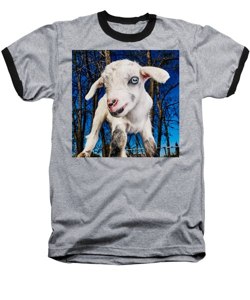 Goat High Fashion Runway Baseball T-Shirt by TC Morgan