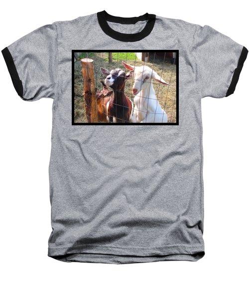 Goats Baseball T-Shirt by Felipe Adan Lerma