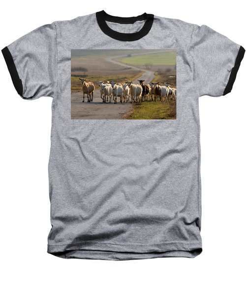 Goats Walking Home Baseball T-Shirt