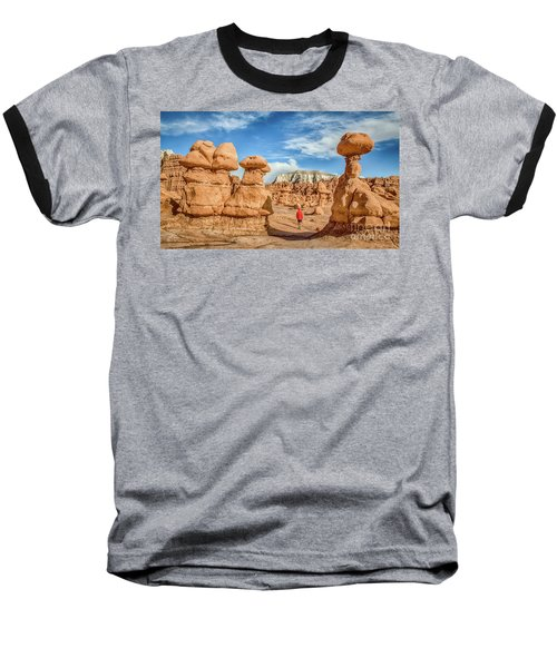 Goblin Valley State Park Baseball T-Shirt by JR Photography