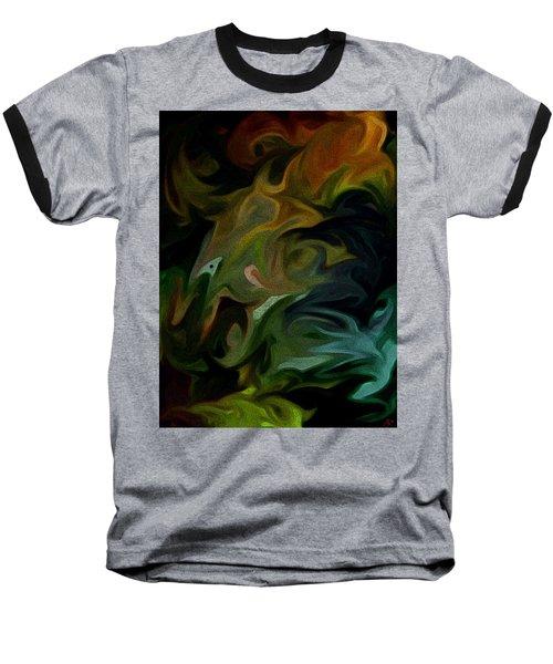 Goblinz Abstract Baseball T-Shirt by Sheila Mcdonald