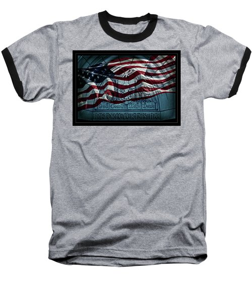 God Country Notre Dame American Flag Baseball T-Shirt