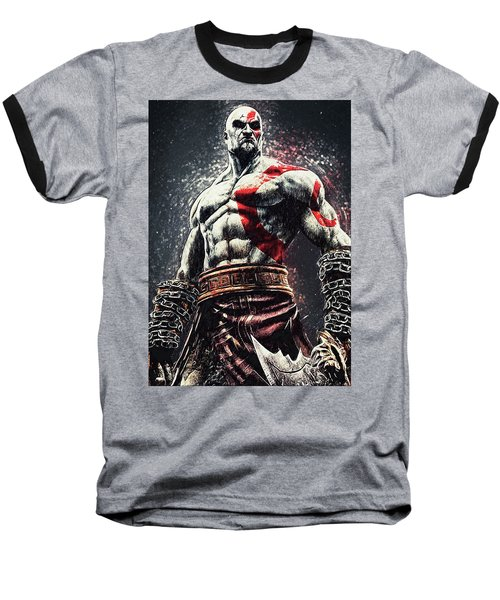 God Of War - Kratos Baseball T-Shirt by Taylan Apukovska