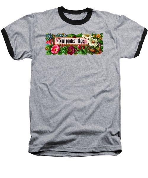God Protect Thee Vintage Baseball T-Shirt