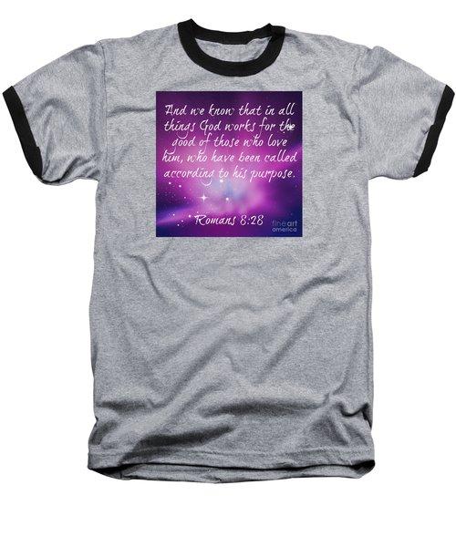 God Works Baseball T-Shirt by Leanne Seymour
