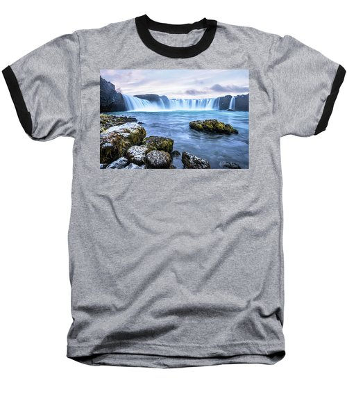 Godafoss Waterfall In Iceland Baseball T-Shirt