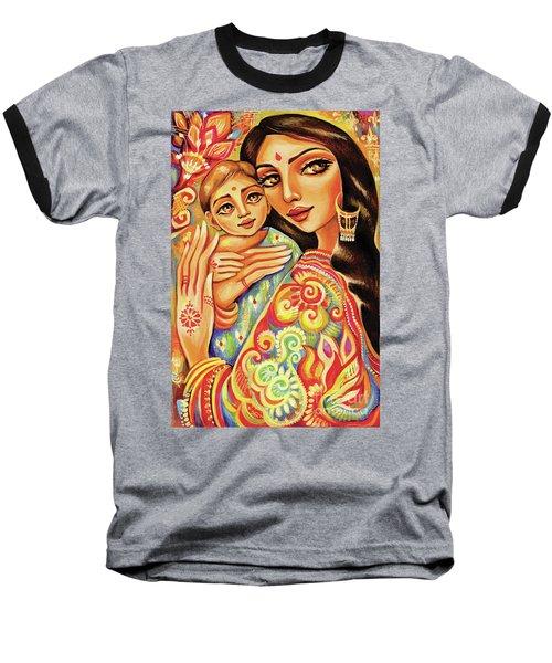 Goddess Blessing Baseball T-Shirt by Eva Campbell