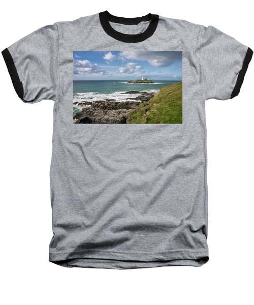 Godrevy Lighthouse 3 Baseball T-Shirt