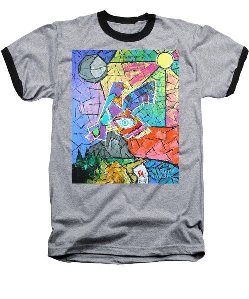 God's Eye, Like Eagle, Roams Earth, Night And Day Baseball T-Shirt by Jeremy Aiyadurai
