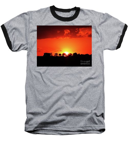 God's Gracful Sunset Baseball T-Shirt