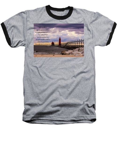 God's Lighthouse Baseball T-Shirt