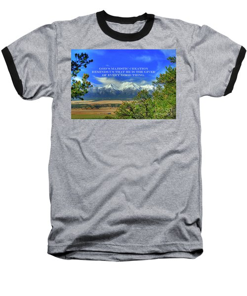 God's Majestic Creation Baseball T-Shirt