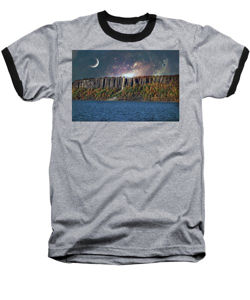 God's Space Over Planet Earth Baseball T-Shirt