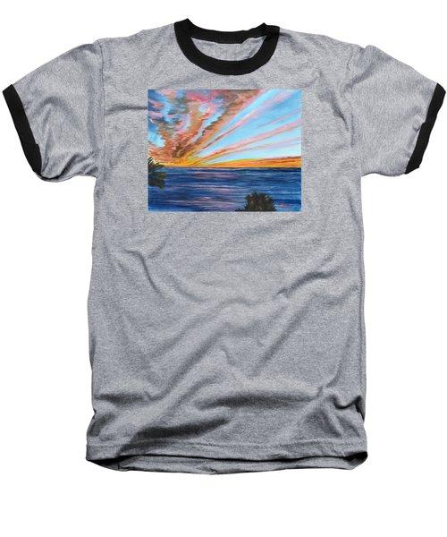God's Magic On The Key Baseball T-Shirt by Lloyd Dobson