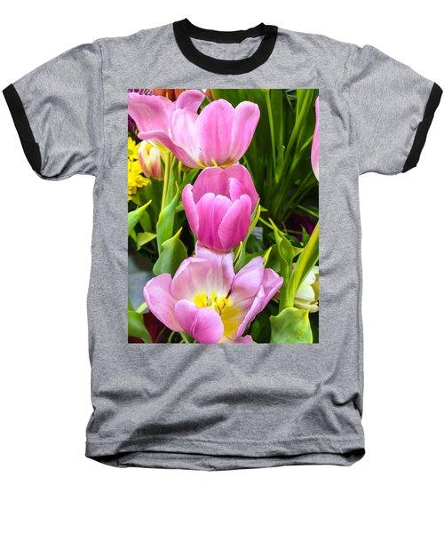 God's Tulips Baseball T-Shirt by Carlos Avila