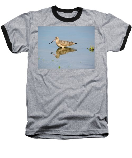 Baseball T-Shirt featuring the photograph  Godwit by Phyllis Beiser