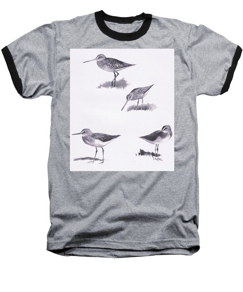 Godwits And Green Sandpipers Baseball T-Shirt