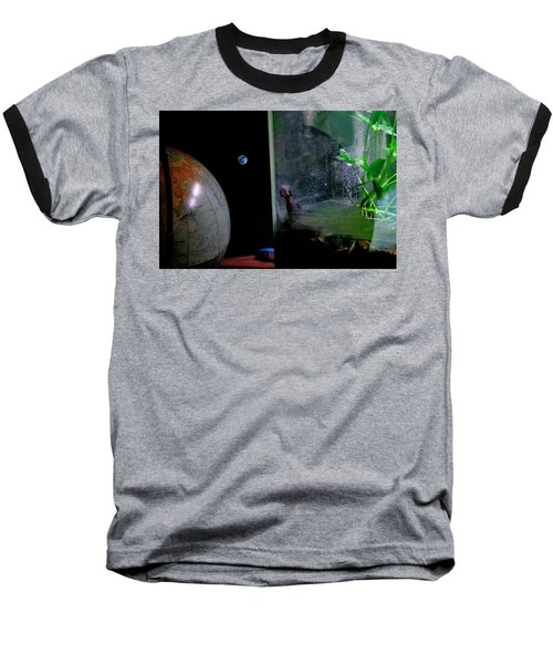 Godzilla Watches And The Moon Is Blue Baseball T-Shirt