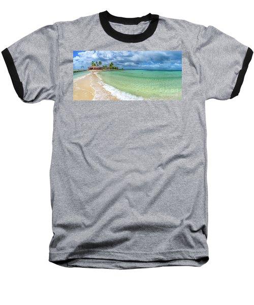 Goff's Caye Belize Pano Baseball T-Shirt