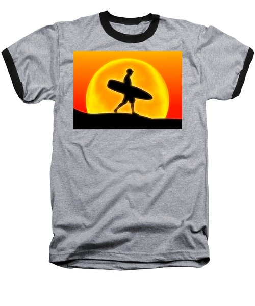 Goin' For A Surf Baseball T-Shirt by Andreas Thust