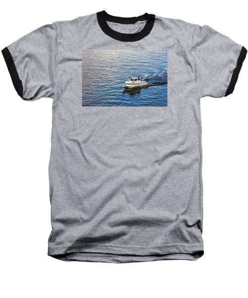 Going Fishing Baseball T-Shirt by Lewis Mann