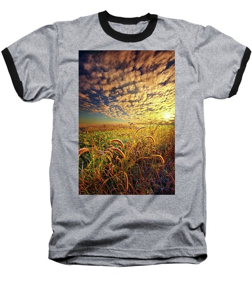 Going To Sleep Baseball T-Shirt by Phil Koch