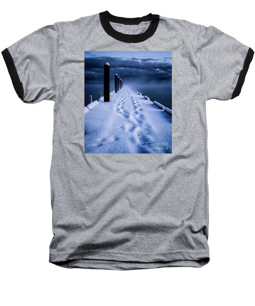 Going To The End Baseball T-Shirt by Mitch Shindelbower