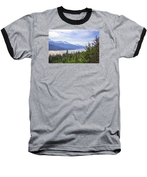 Going Up The Mountain Baseball T-Shirt by Allan Levin