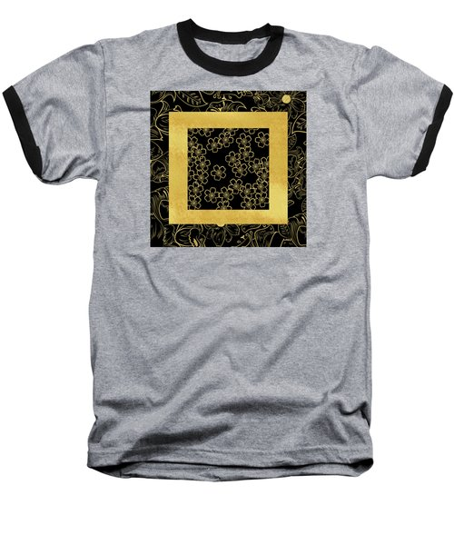 Gold And Black Baseball T-Shirt by Bonnie Bruno