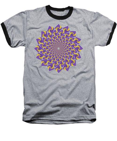 Gold And Purple Circle Of Diamonds Baseball T-Shirt