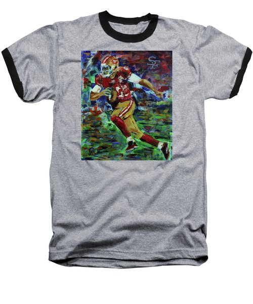 Gold Blooded 49ers Baseball T-Shirt by Walter Fahmy