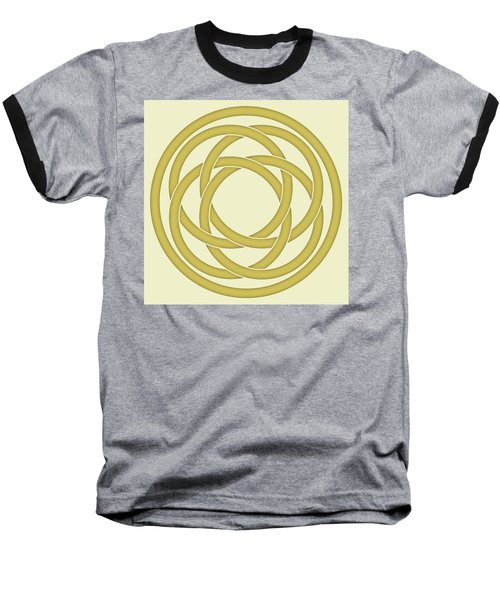 Baseball T-Shirt featuring the photograph Gold Celtic Knot by Jane McIlroy