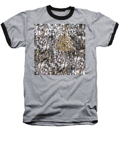 Baseball T-Shirt featuring the photograph Gold Christmas Tree by Ulrich Schade