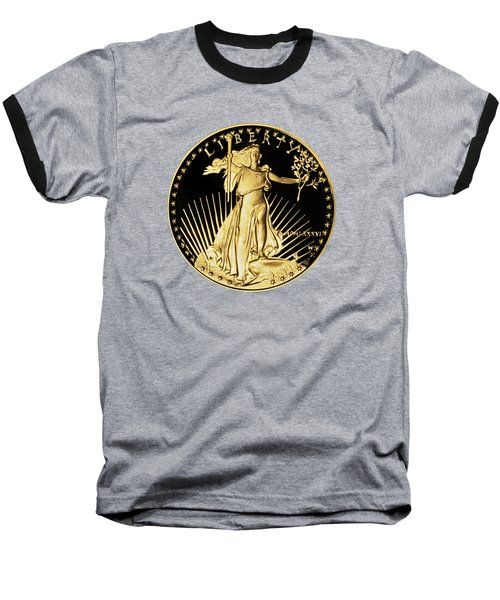 Baseball T-Shirt featuring the photograph Gold Coin Front by Phyllis Denton