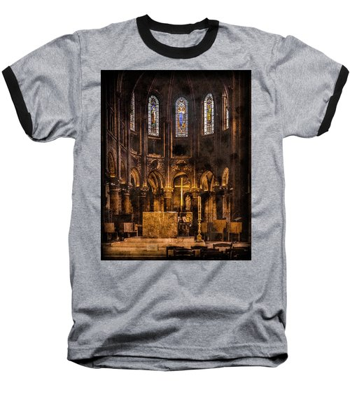 Paris, France - Gold Cross - St Germain Des Pres Baseball T-Shirt