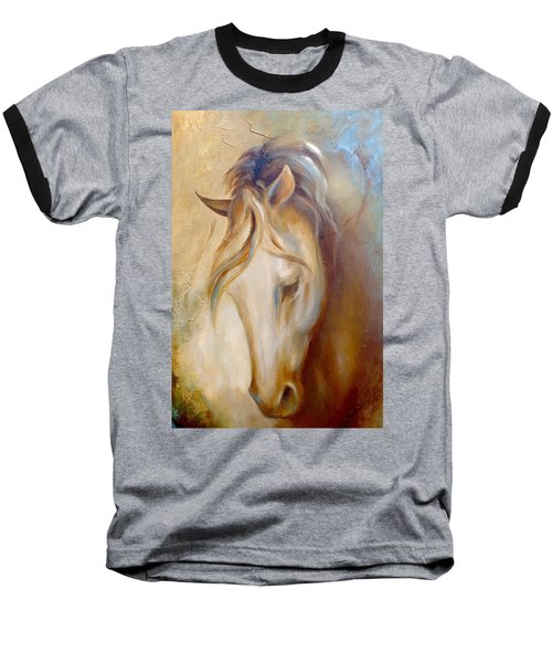 Baseball T-Shirt featuring the painting Gold Dust 2 by Dina Dargo
