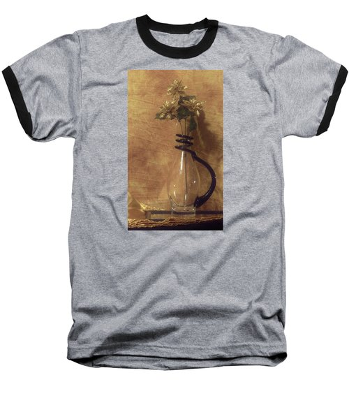 Gold Flower Vase Baseball T-Shirt