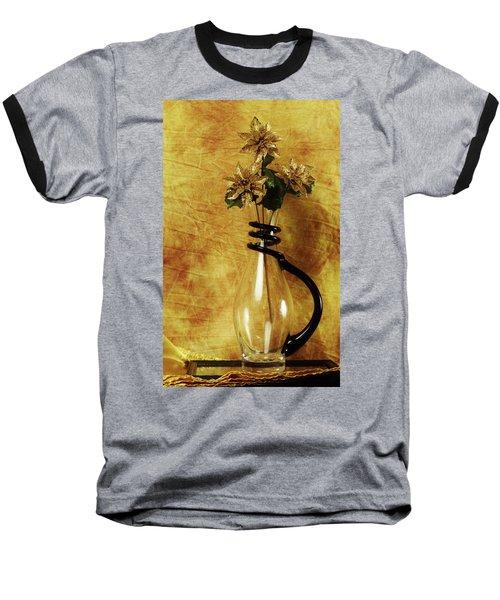 Gold Flowers In Vase Baseball T-Shirt